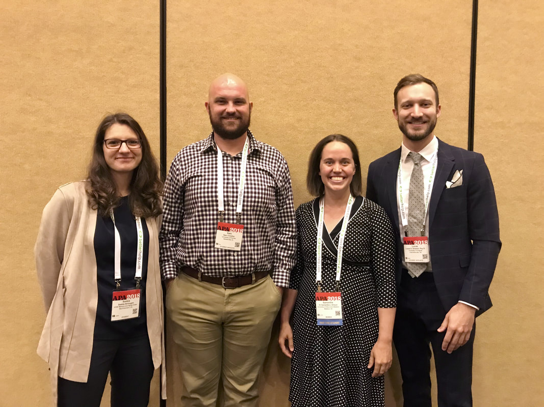 2018 APA Clinical Case Presenters with ANST President Lucas Driskell